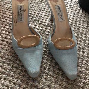 Denim Jimmy Choo shoes 38 1/2